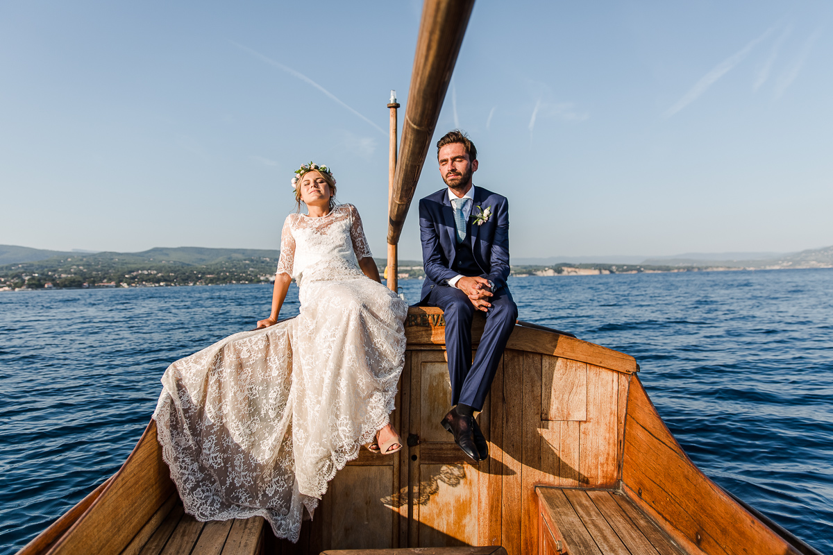 Wedding in French Riviera - Photo : Karol R. Photographie - Dress : Manon Gontero