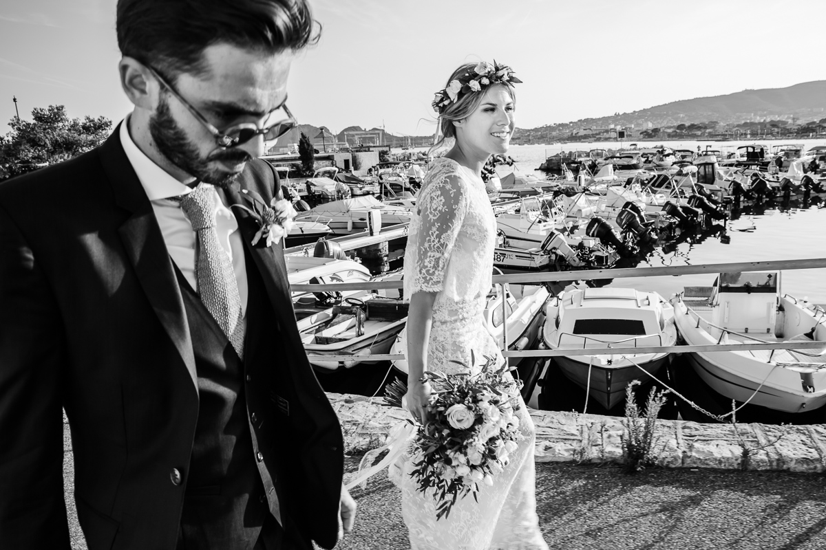 Wedding in French Riviera - Photographer : Karol R. Photographie  - Dress : Manon Gontero